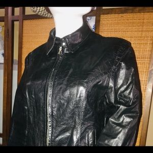 Wilson's Leather Small Distressed Leather Jacket